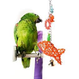 Parrot toys ,NNDA CO 1 Pc Bird Parrot Cage Hanging Toys Ratt