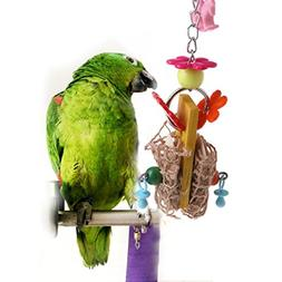 Parrot toys ,NNDA CO 1 Pc Bird Parrot Cage Hanging Toys Cutt