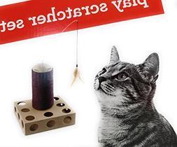 Pet Shoppe Peek-A-Boo Cat Play Scratcher Set, Entertain Your