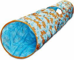 "Leaps & Bounds Peek-a-Boo Pipe Cat Tunnel, 51"" L X 9.5"" W, G"