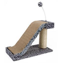 Penn Plax Cat Scratching Post Pad Toy Fun Leopard Print