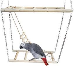 Wildgirl Pet Bird Hamster Small Animal Double Ladder Toy Par