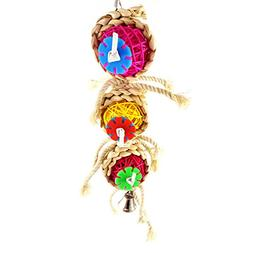 Wildgirl Pet Bird Parrot Natural Vine Ball String Rope Chewi