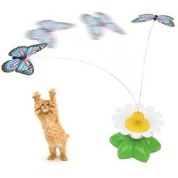 Pet Butterfly Toy-Electric Rotate Teaser Motion Toy for Kitt