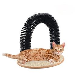 STAR HOME Pet Cat Arch Self Groomer Massager Groom Toy Pet C
