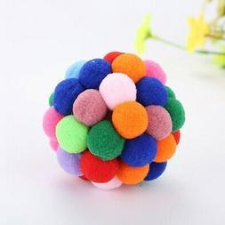 Pet Cat Colorful Elastic Ball Toy Indoor Outdoor Training Ex