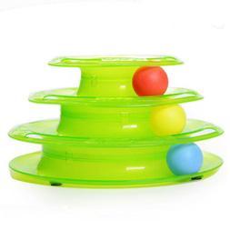Pet Cat Crazy Ball Disk Interactive Toys Amusement Plate Tri