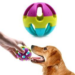Menniw 7cm Pet Cat Dog Puppy Jingle Bell Ring Ball Round Rol