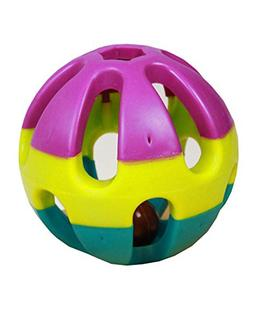 BleuMoo Pet Cat Dog Puppy Jingle Bell Ring Ball Round Roll P