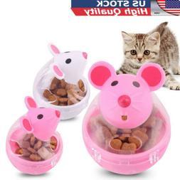 Pet Cat Dog Tumbler  Leakage Food Dispenser Treat Ball Mice
