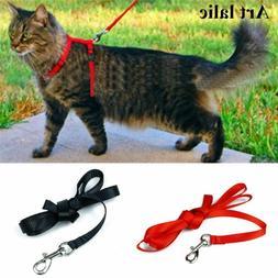 Pet cat Harness Collar Leash Set Adjustable Denim Belt for P