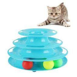 Pet Cat Crazy Ball Disk Interactive Toys Amusement Plate Tri