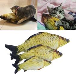 Pet Cat Kitten Chewing Cat Toys Stuffed Fish Mint Pet Intera