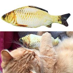 Jocestyle Pet Cat Kitten Chewing Cat Toys Stuffed Fish Mint