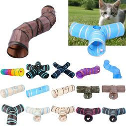 Pet Cat Kitten Dog Puppy Rabbit Folding Tunnel Game Play Toy