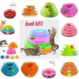 Pet Cat Kitten Interactive Motion Disk Crazy Ball Amusement