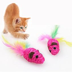 Naladoo Pet Cat Kitten Toy Mini Cute Goldfish With Feather R