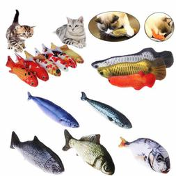 Pet Cat Play Fish Shape Mint Catnip Chewing Kids Gifts Inter