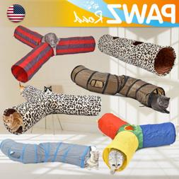 Pet Cat Tunnel Y-Shape 3 Ways Kitten Pup Toys Collapsible Tu