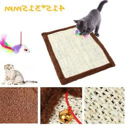Pet Cat Scratching Mats Toys with Fish & Bell Toy Scratch Bo