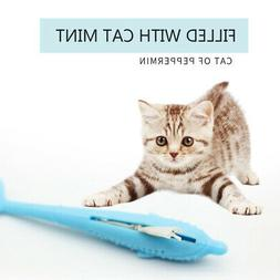 Pet Cat Silicone Toothbrush with Catnip Cat Molar Stick Toys
