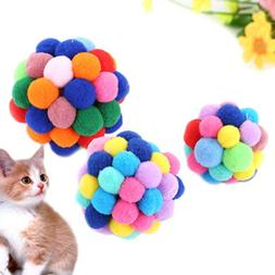 pet cat toy colorful handmade bells bouncy