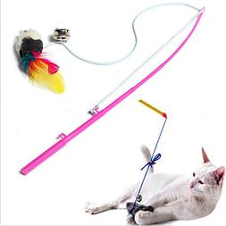 Pet cat toy Cute Design Pet Toys For Cats Steel Wire Feather