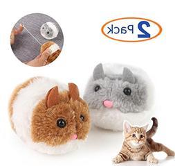 Hamiledyi Pet Cat Toys, Stock Show Plush Rat Shape Wriggle S