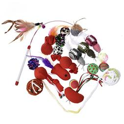 Yunt Pet Cat Toys Variety Pack 20 PCS Combination Set Cat In