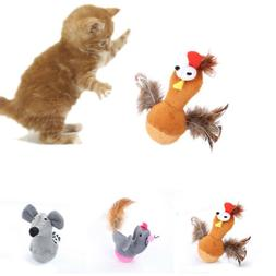 Pet Cat Tumbler Toys Cartoon Chicken Mouse Shaped Interactiv