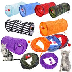 Pet Cat Tunnel Outdoor Game Playing Toy Foldable Kitten Rabb
