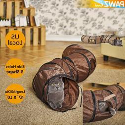 Pet Cat Tunnel S Shape 3 Ways Rabbit Kitten Funny Toys Folda