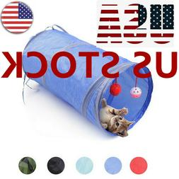 Pet Cat Tunnel Toys Rabbit  Up Tube Collapsible  Kitten Play