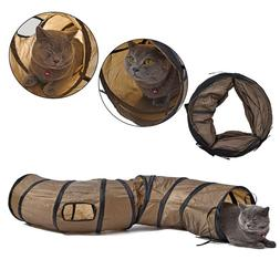Pet Cat Tunnel Tube Collapsible Rabbit Kitten Play Funny Toy