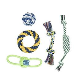 Petacc Pet Chew Toys Puppy Teething Toys Dog and Cat Rope To