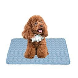 GZQ Pet Cooling Mat Ice Silk Dog Pad Mattress Bed Cushion Br