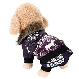 Pet Costume HCFKJ Christmas Elk Pet Jacket For Dog Winter Co