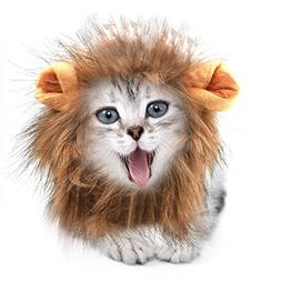 Sporer@ Pet Costumes Lion Mane Wig Cat Costume and Small cat