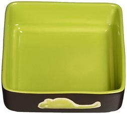 Ethical Pet Products  CSO6934 Four Square Ceramic Cat Dish,
