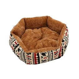 Generic Pet Dog Cat Bed Soft Puppy Cushion House Warm Kennel