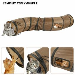 Hot Pet Cat Play Tunnel S Collapsible Kitty Rabbit Exercise
