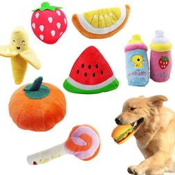 Pet Dog Cat Toy Funny Puppy Chew Squeaker Squeaky Plush Frui