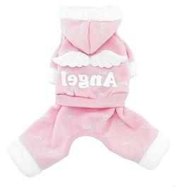 SMALLLEE_LUCKY_STORE Pet Small Dog Cat Clothes Warm Fleece A