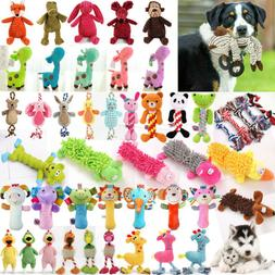 Pet Dog Chew Toy Puppy Cat Plush Play Squeaky Squeaker Train