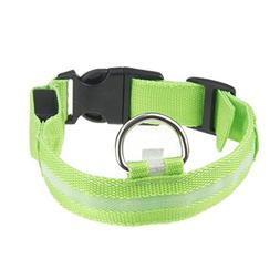 Besde Pet Dog Puppy Adjustable Safety LED Flashing Night Lig