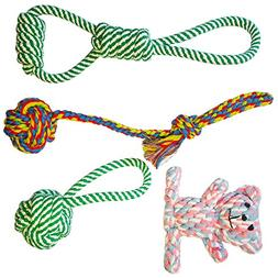 OVERMAL TOY Pet Dog Rope Toys  Dog ball Tug Rope Gift for Pl