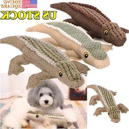 Pet Dog Toys Squeak Molar Chew Toy Training Crocodile Shape