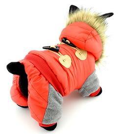Ranphy Pet Clothes for Dogs Cats Fleece Lined Horn Button Wi