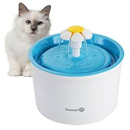 Hommii Pet Drinking Water Flower Fountain for Cats and Dogs