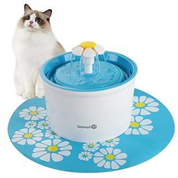 Hommii Pet Drinking Water Fountain with Flower Style Design